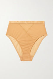 Lonely Thea metallic stretch-tulle briefs