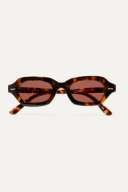The Row + Oliver Peoples LA CC hexagonal-frame tortoiseshell acetate sunglasses