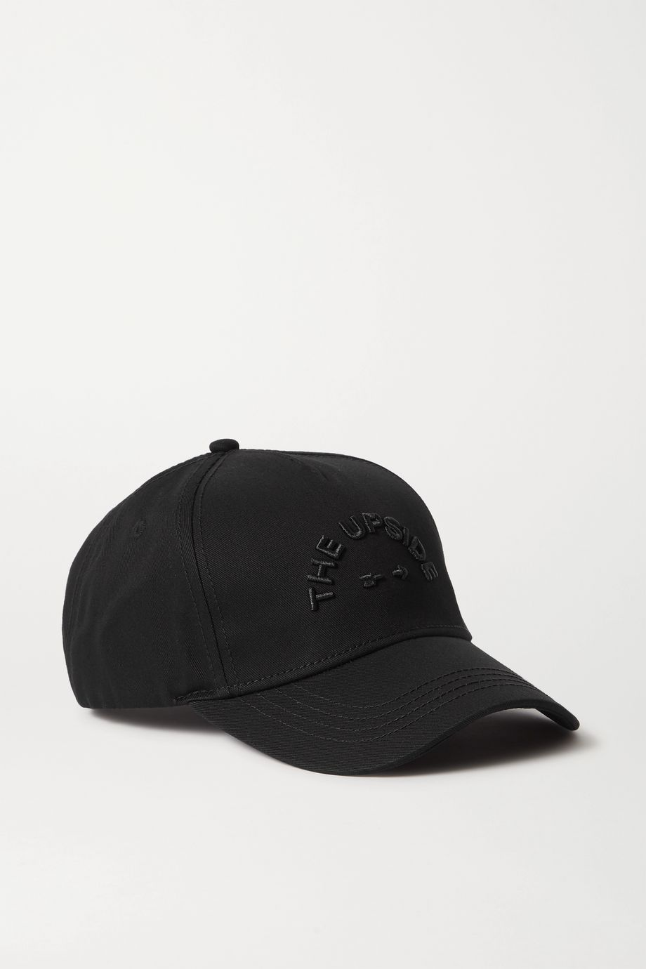The Upside Embroidered cotton-twill baseball cap
