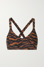 The Upside Sophie tiger-print stretch sports bra