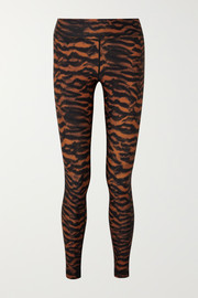 The Upside Tiger-print stretch leggings