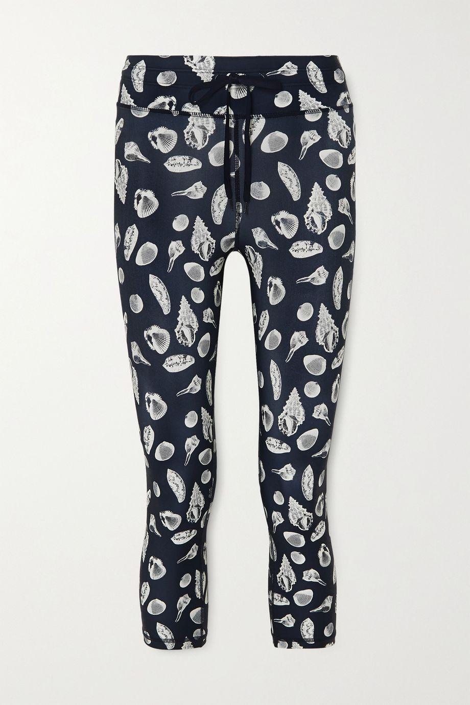 The Upside Shells cropped printed stretch leggings