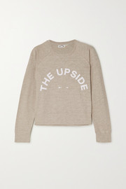 The Upside Horseshoe Bronte printed slub cotton-jersey sweatshirt