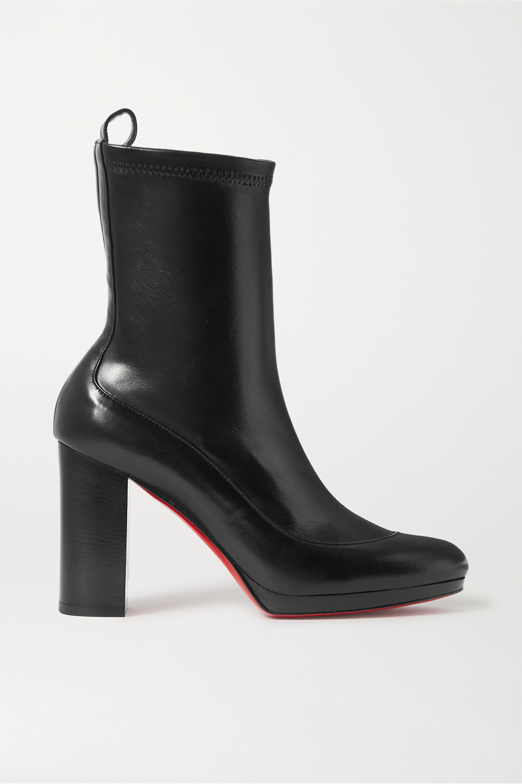 Christian Louboutin Contrevent 100 leather sock boots