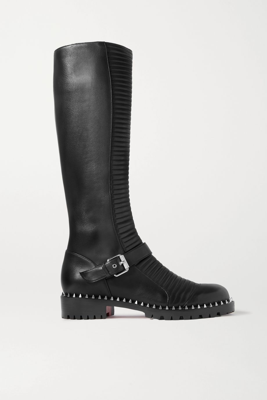 Christian Louboutin Meteorita 30 studded ribbed leather knee boots
