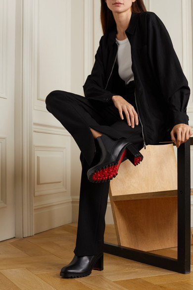 Christian boots ankle 70 leather LouboutinMarchacroche vnm08wN