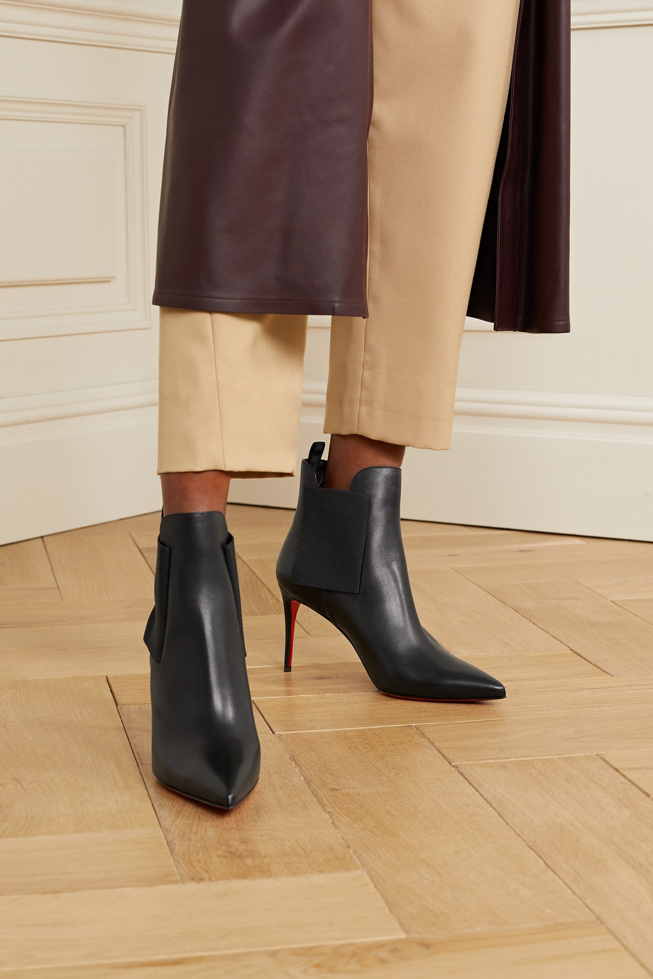 Christian Louboutin Carnababy 85 leather ankle boots
