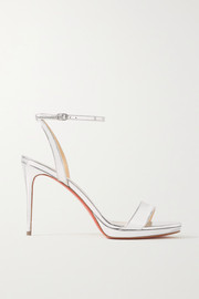 Christian Louboutin Loubi Queen 100 metallic patent-leather sandals