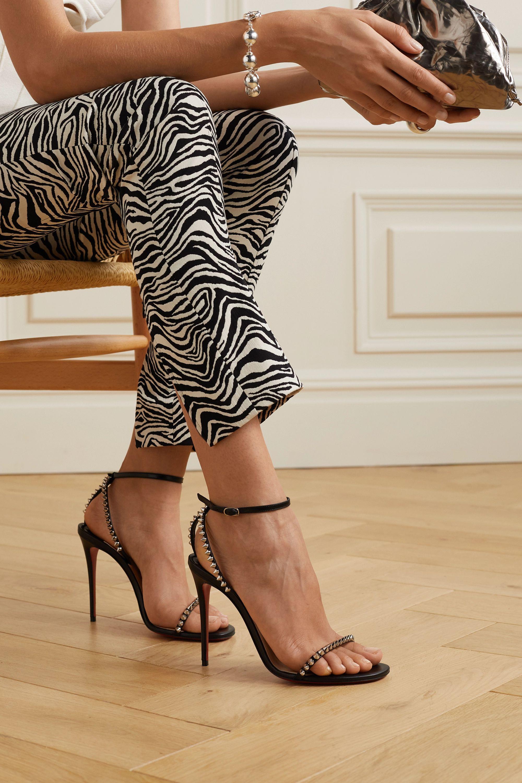 Black So Me 100 studded leather sandals