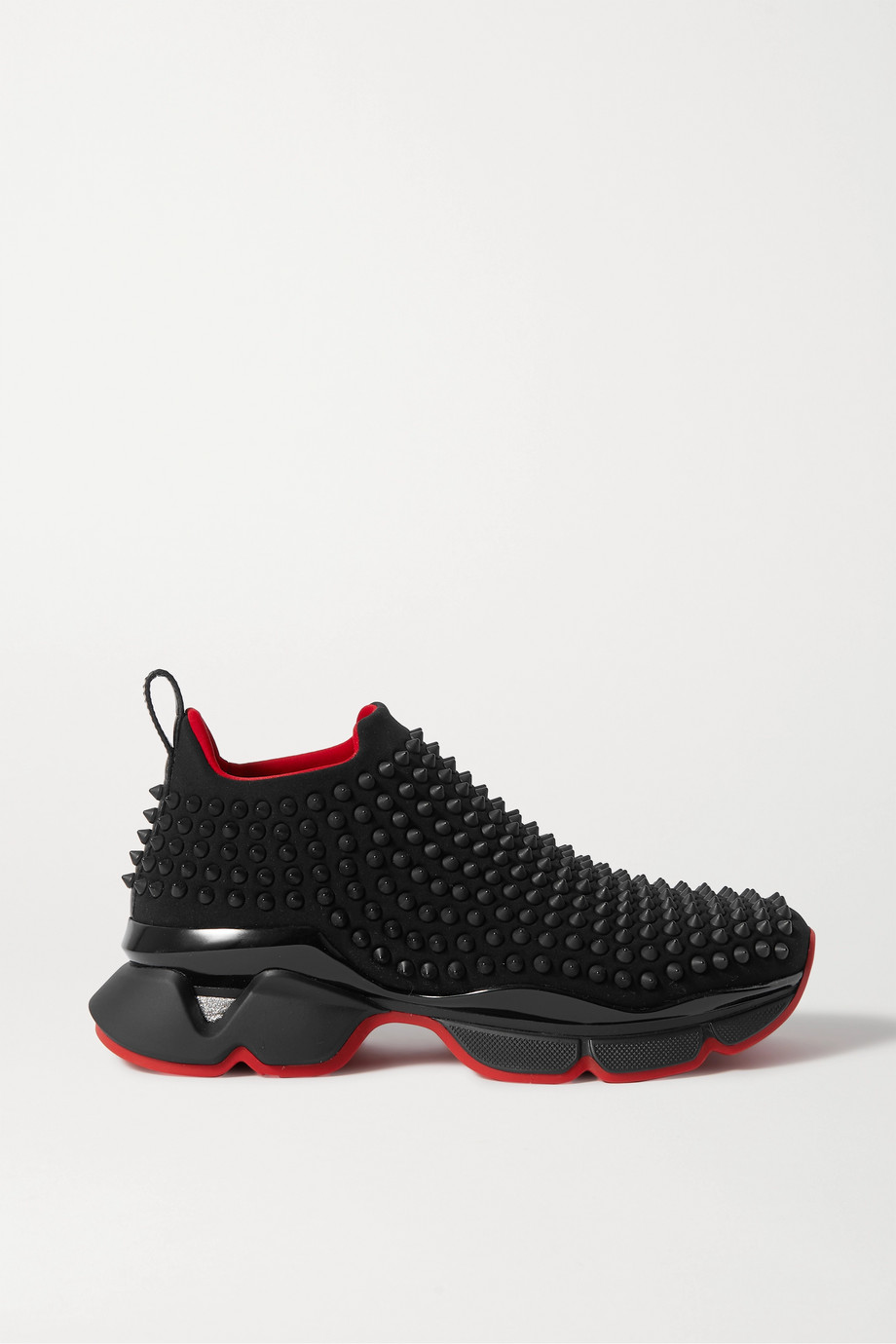 Christian Louboutin Spike Sock Donna studded neoprene sneakers
