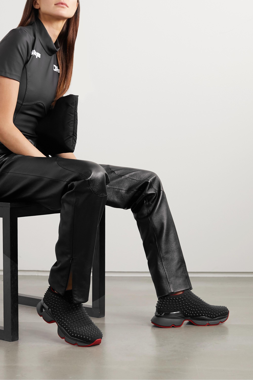 Christian Louboutin Spike Sock Donna studded neoprene sneakers