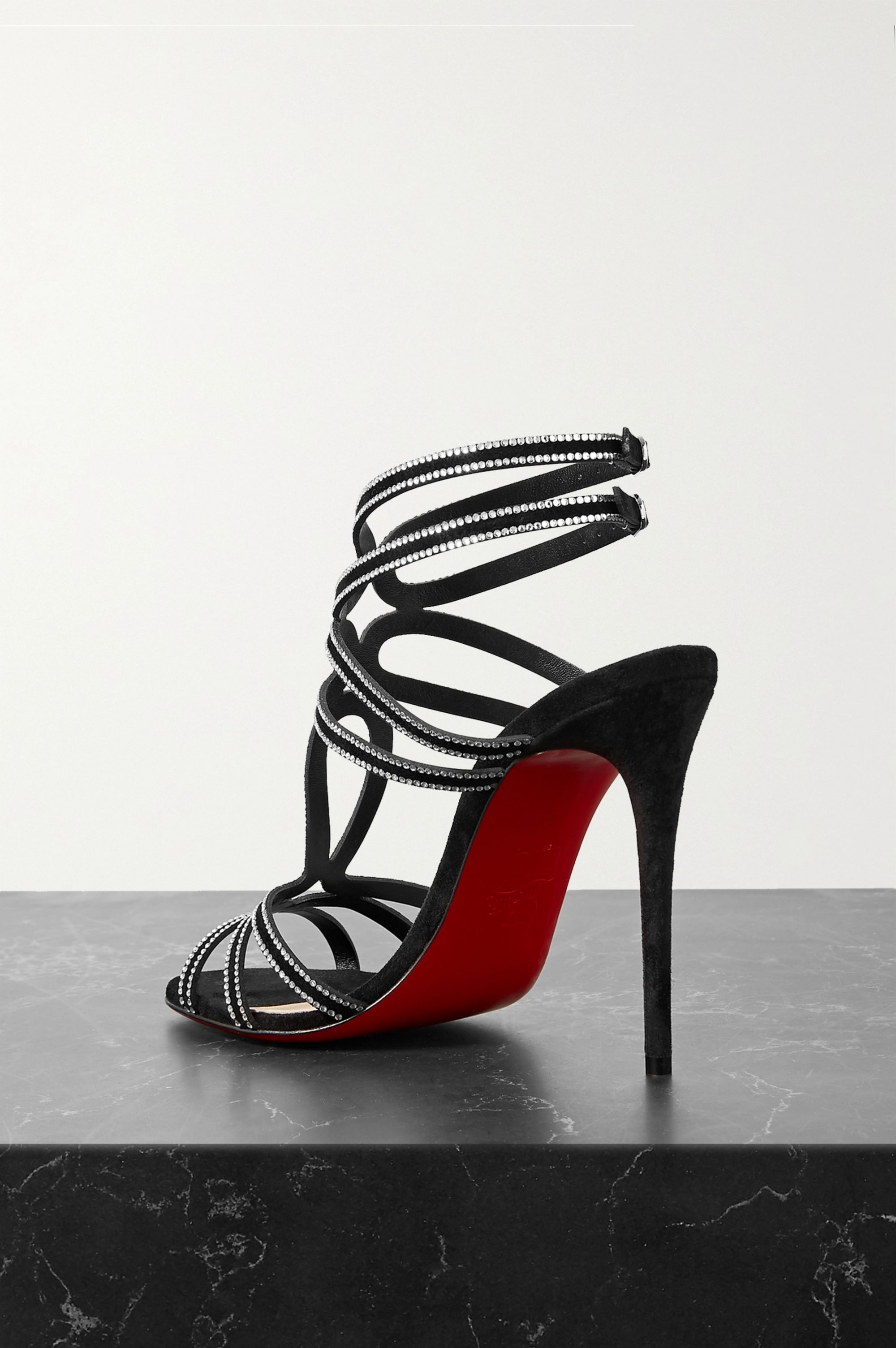 Christian Louboutin Renee Strass 100 crystal-embellished suede sandals