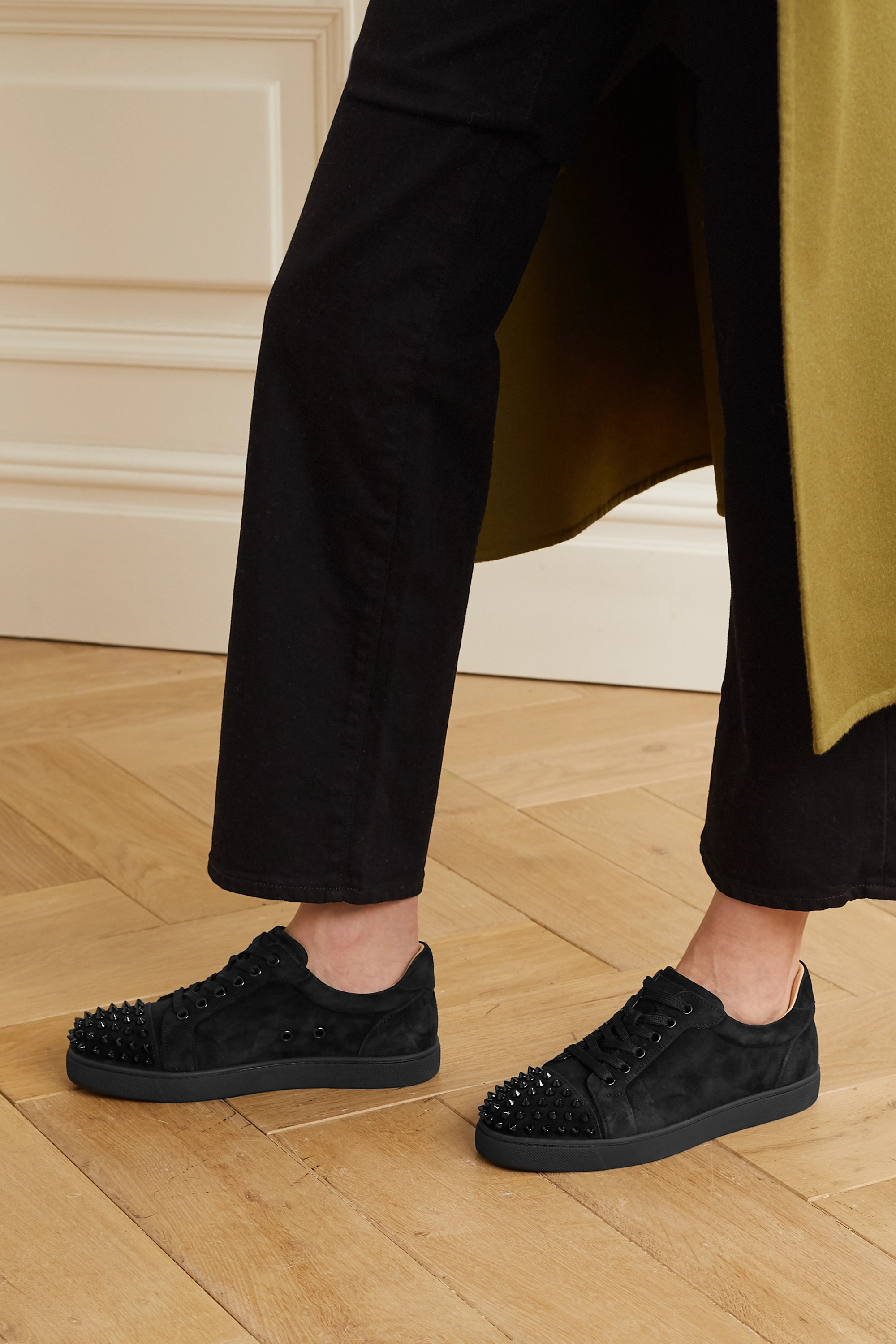 Black Vieira spiked suede sneakers