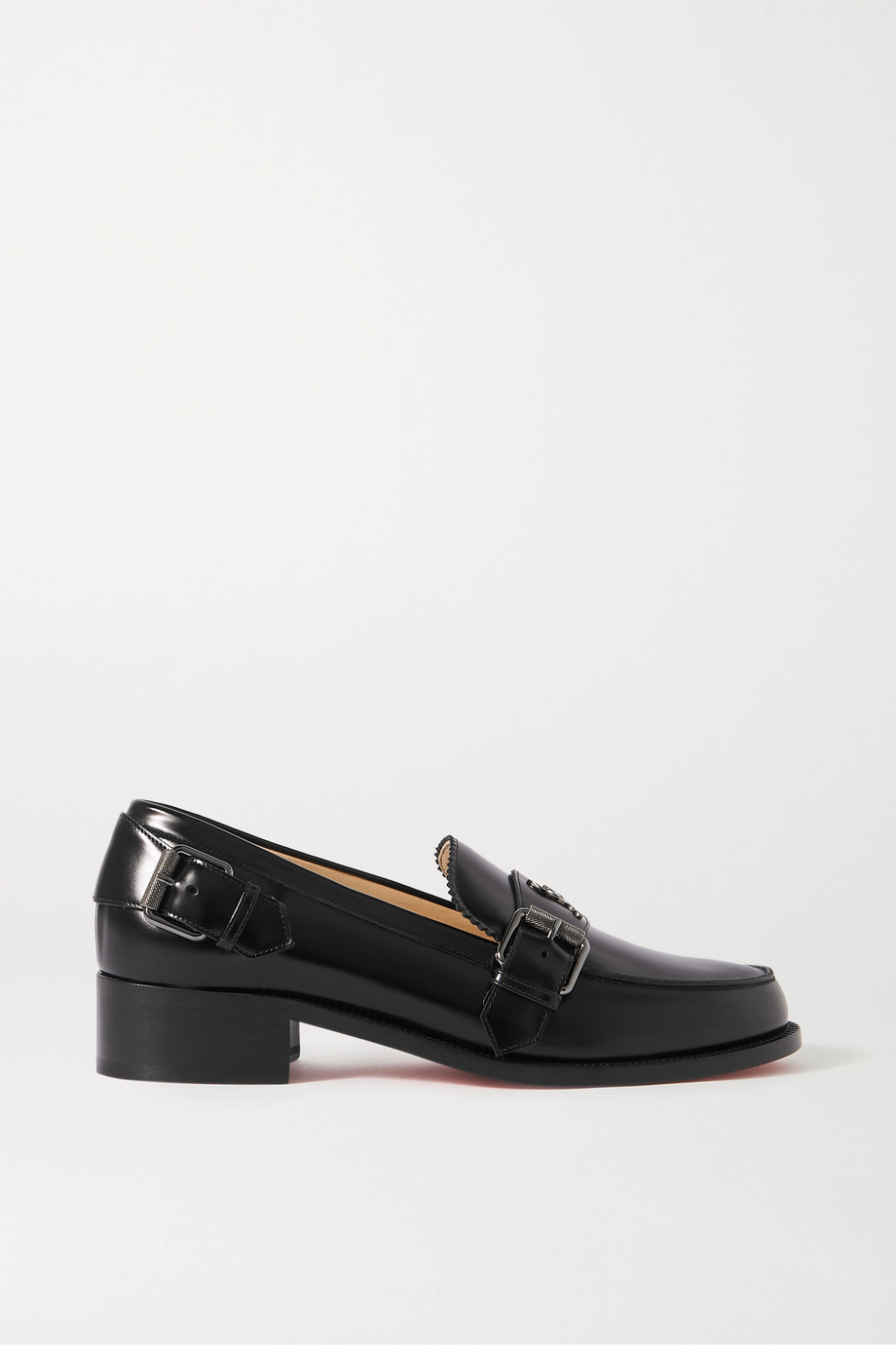Christian Louboutin Monmoc 40 logo-embellished buckled leather loafers