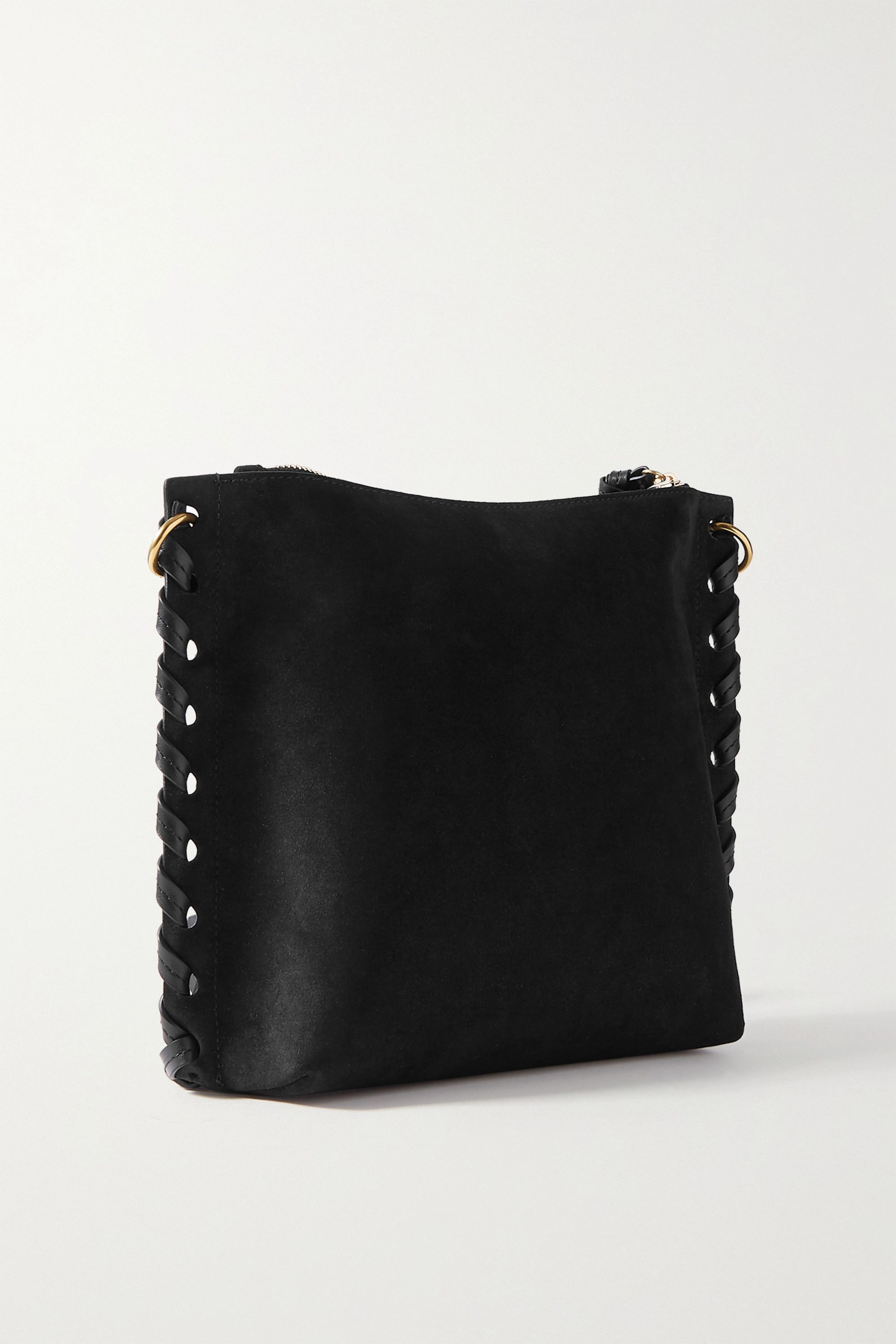 Isabel Marant Irope leather-trimmed suede shoulder bag