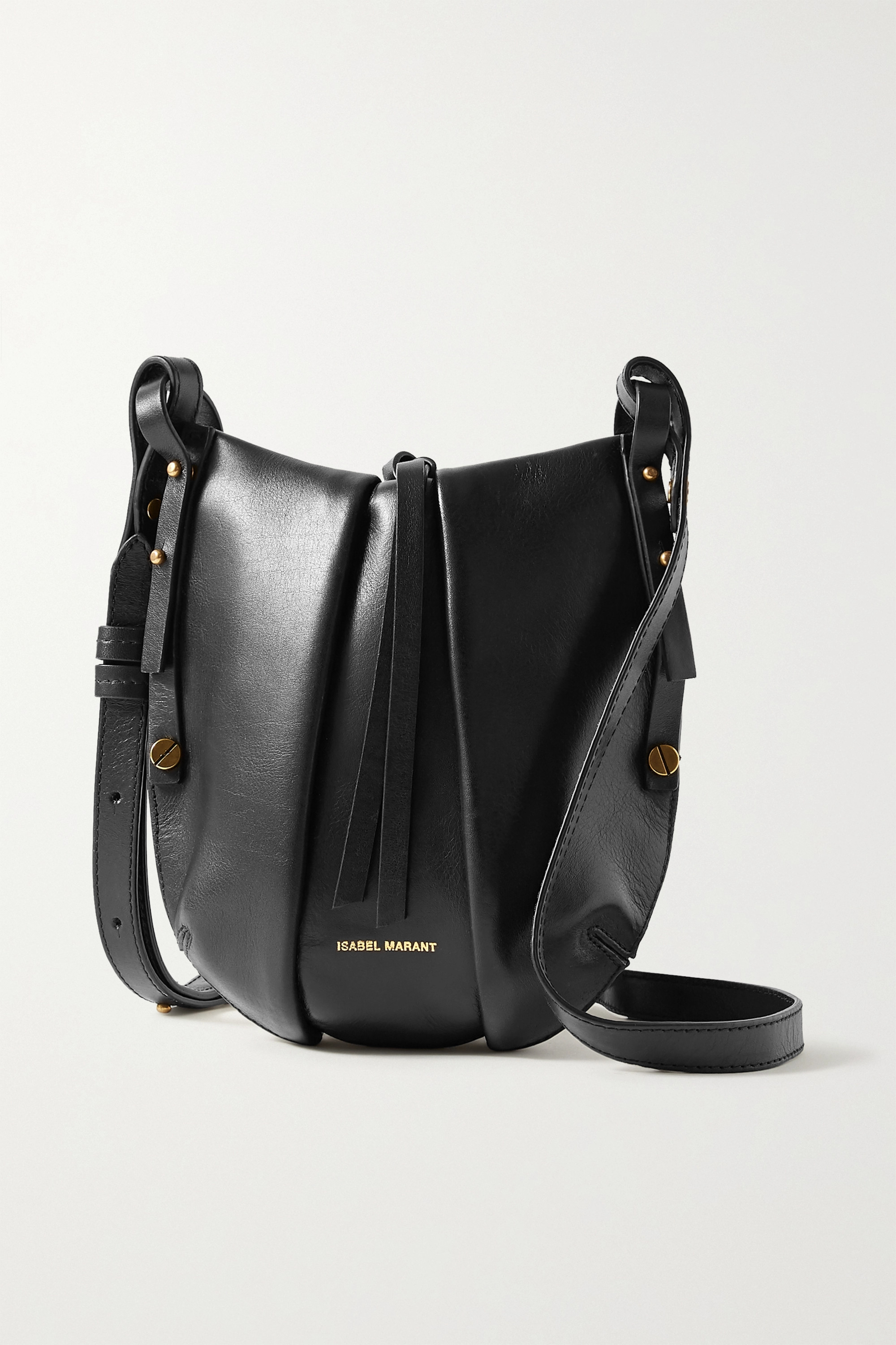 Black Okaya Leather Shoulder Bag