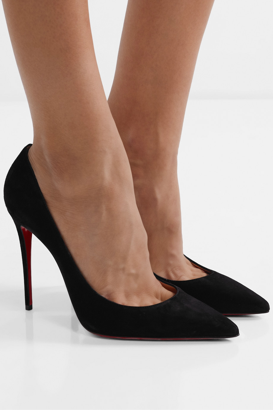 Christian Louboutin Kate 100 Pumps aus Veloursleder