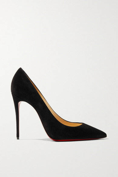 Kate 100 Suede Pumps by Christian Louboutin