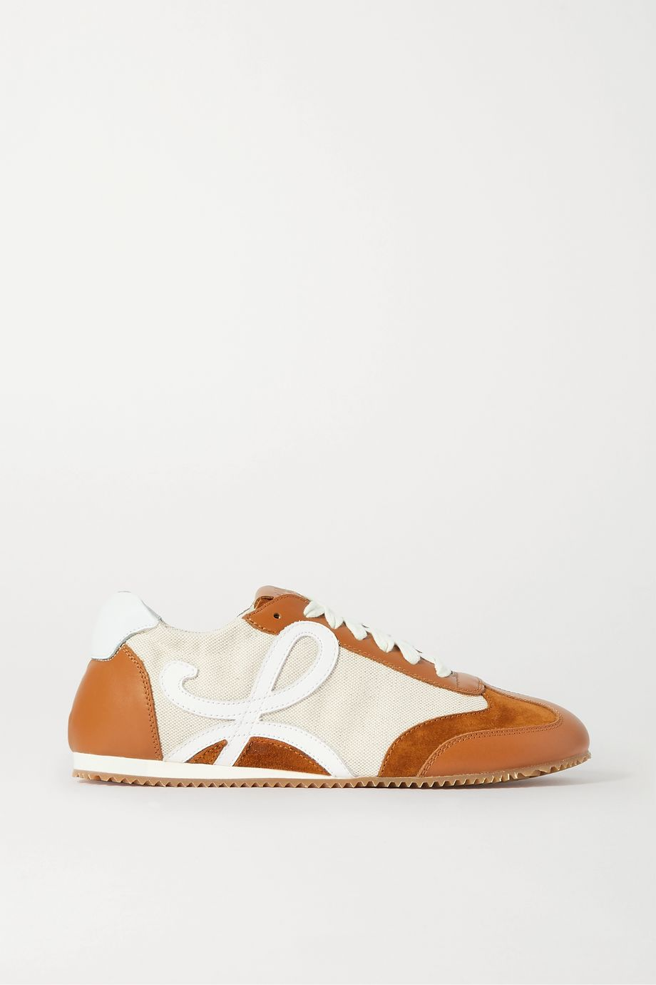 Loewe Suede, canvas and leather sneakers