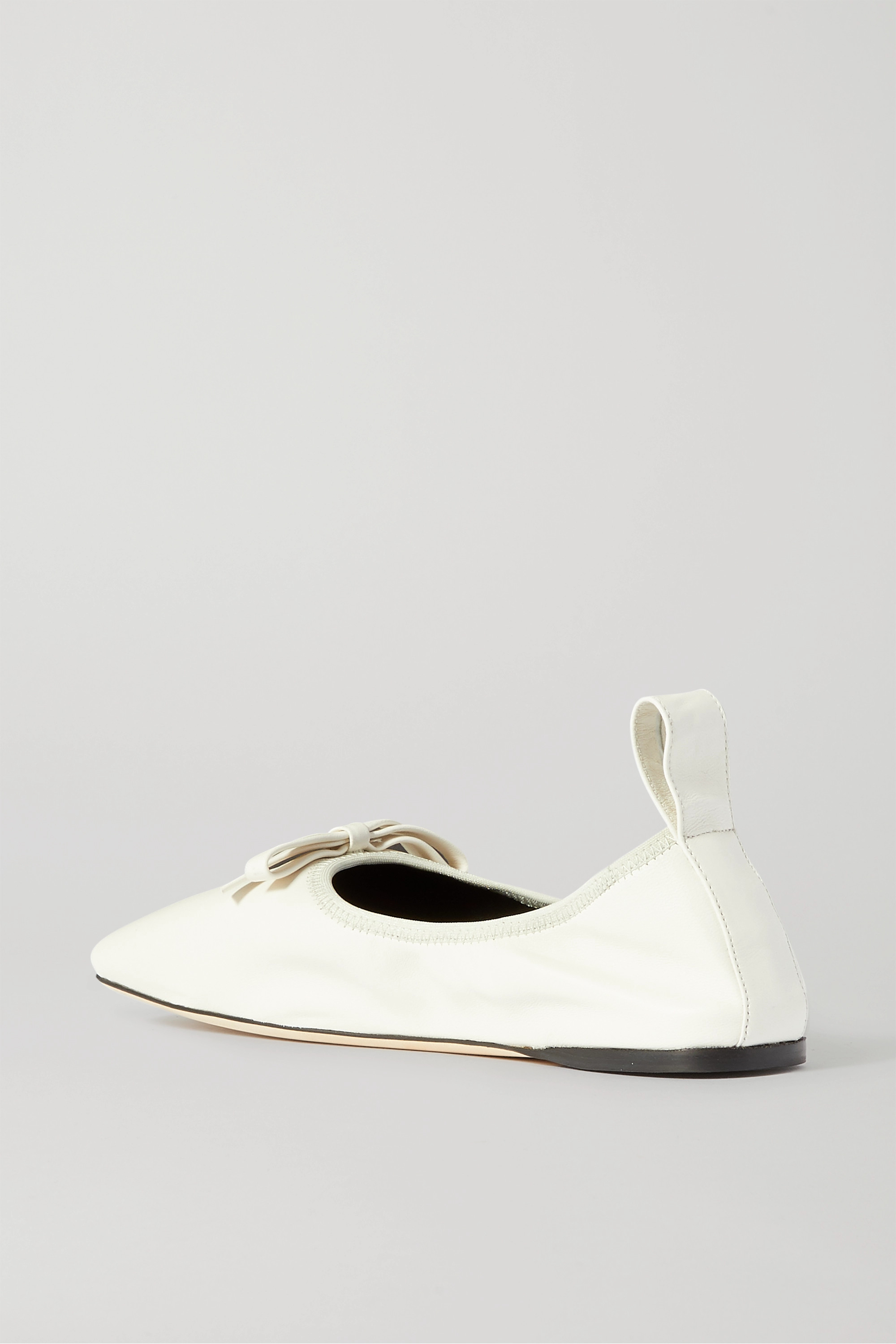 Loewe Bow-detailed leather ballet flats