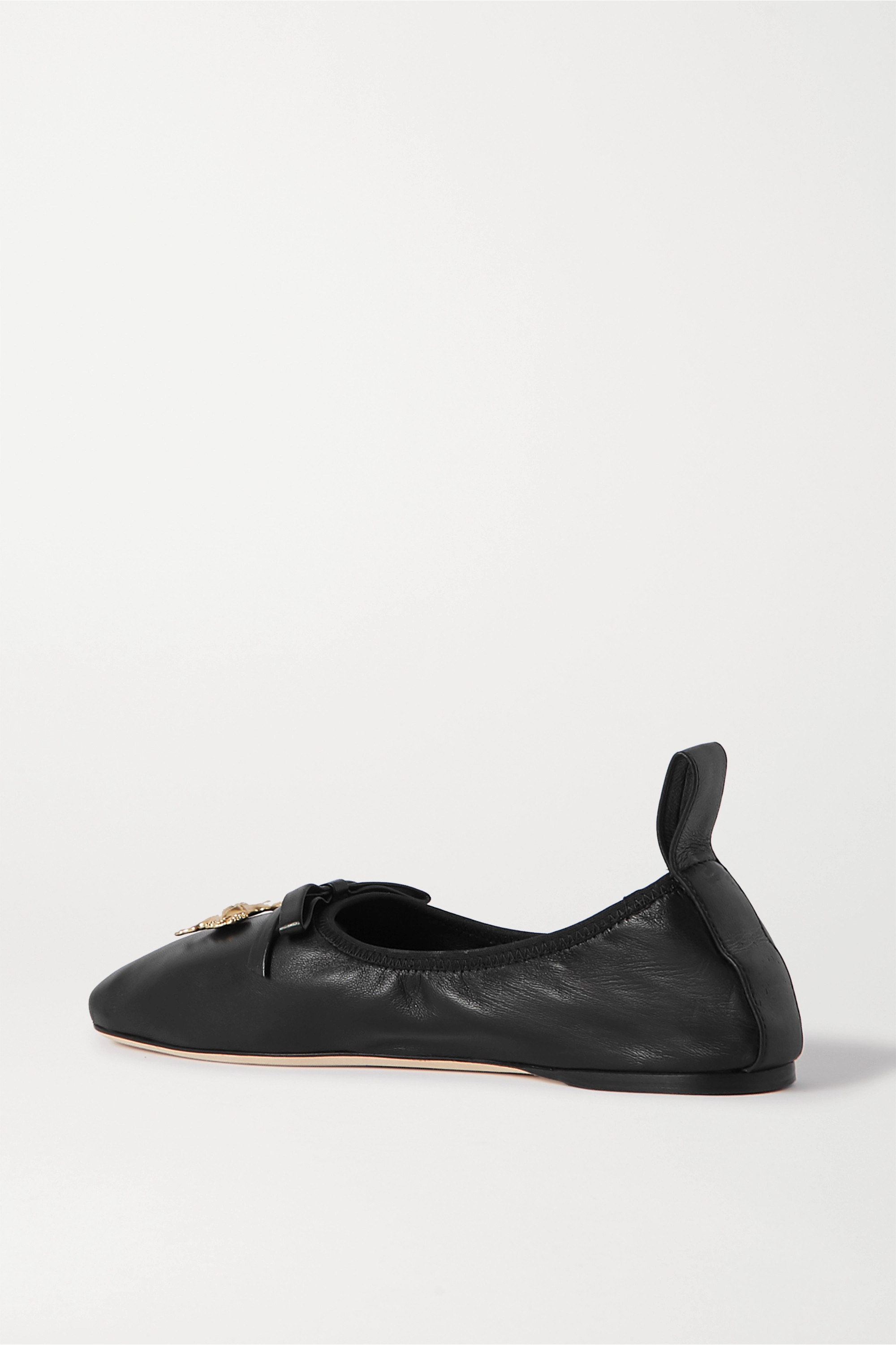 Loewe Embellished leather ballet flats