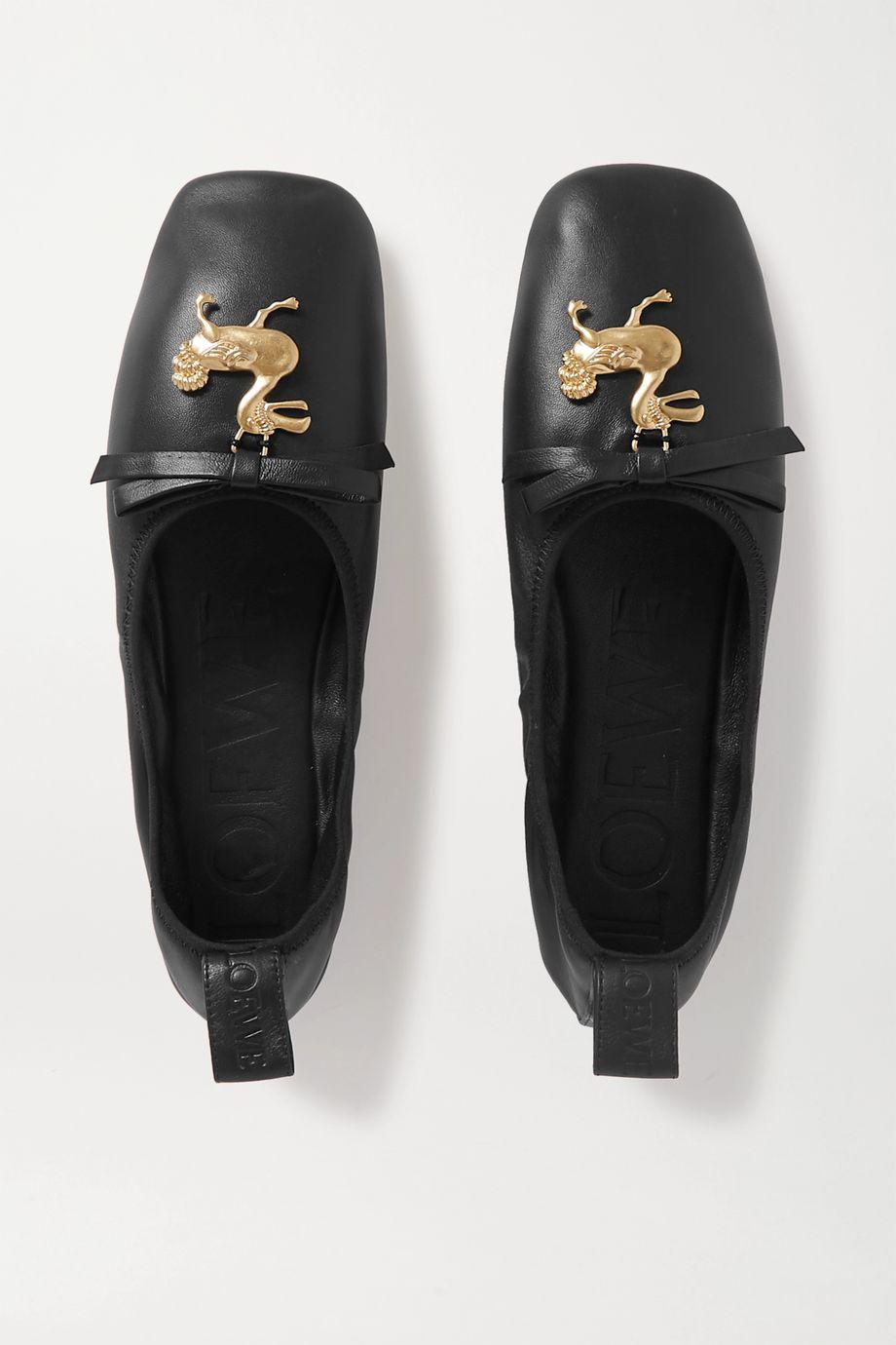 Loewe Embellished leather ballet flats