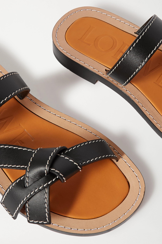 Loewe Gate leather slides