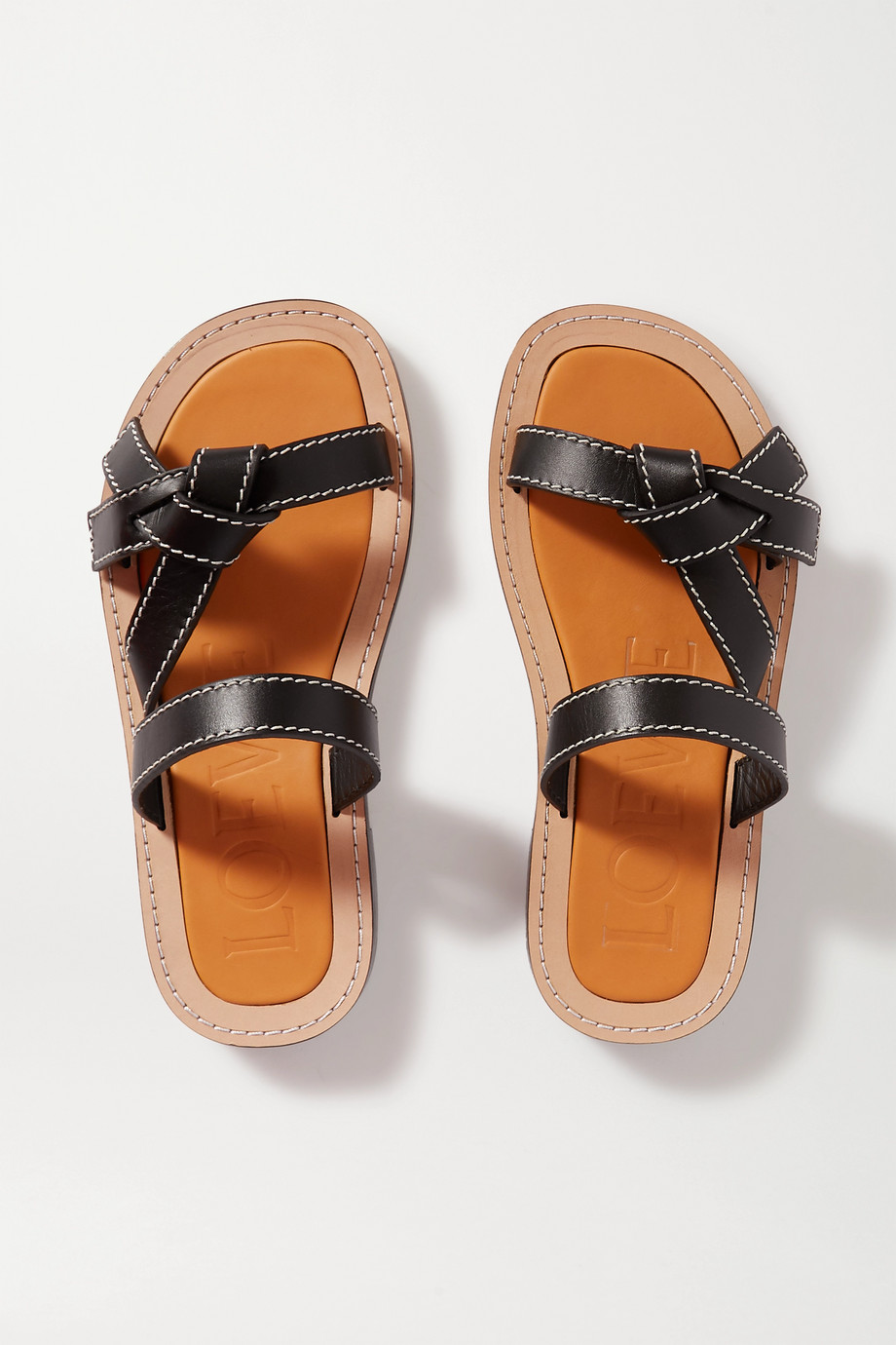 Loewe Gate leather slides