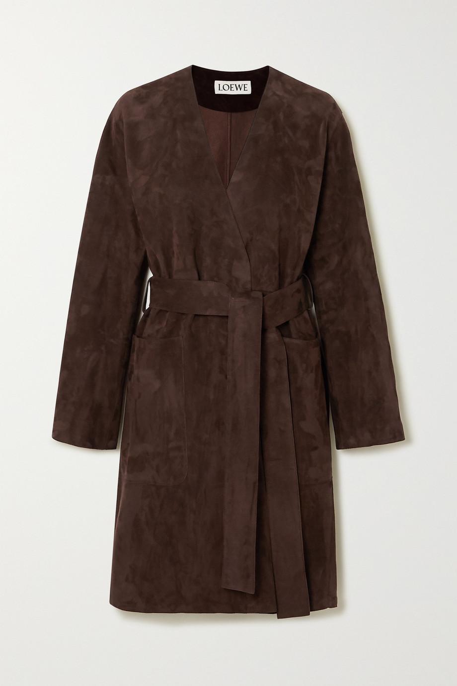 Loewe Manteau en daim à ceinture