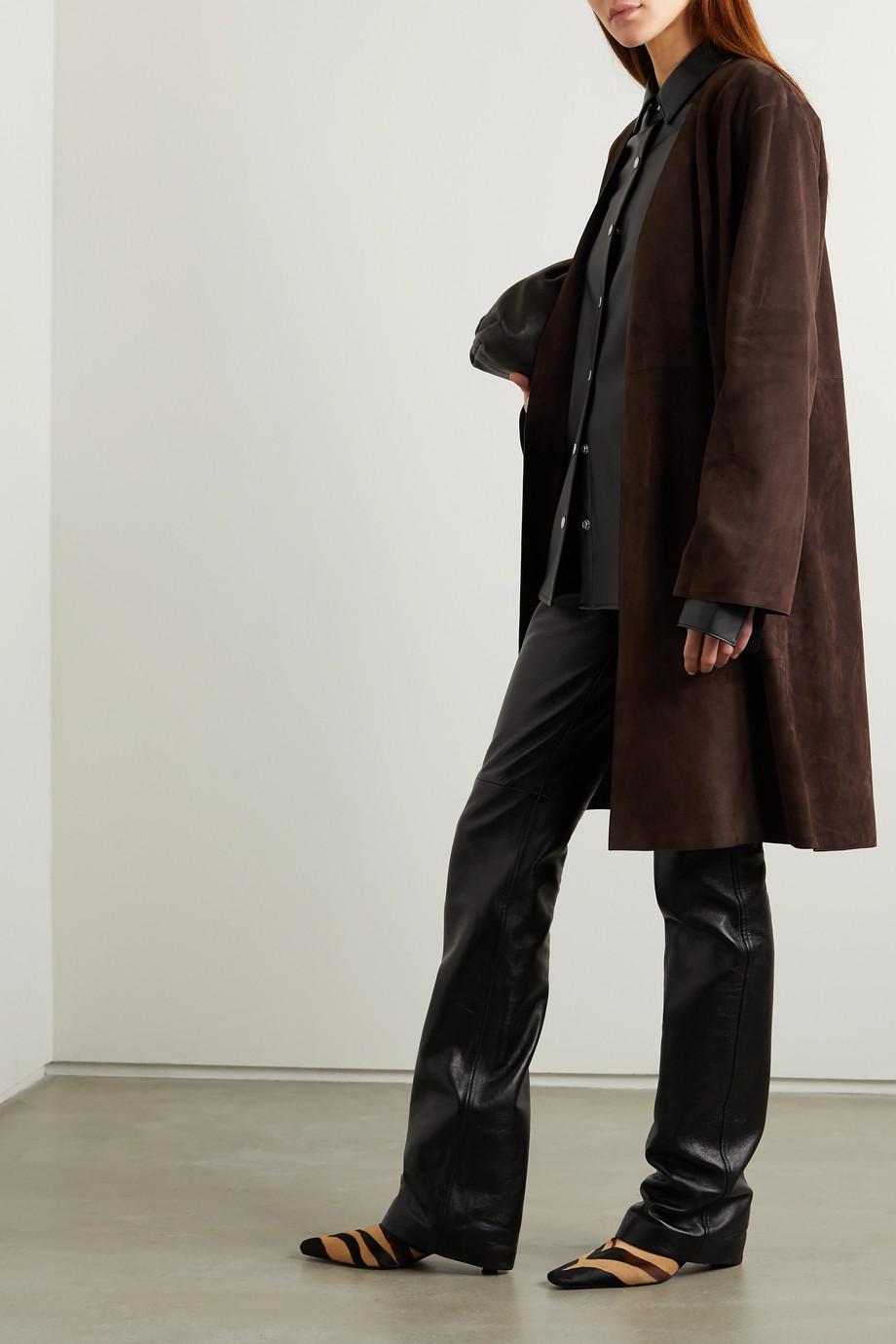 Loewe Belted suede coat