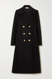 Double-breasted wool and cashmere-blend coat