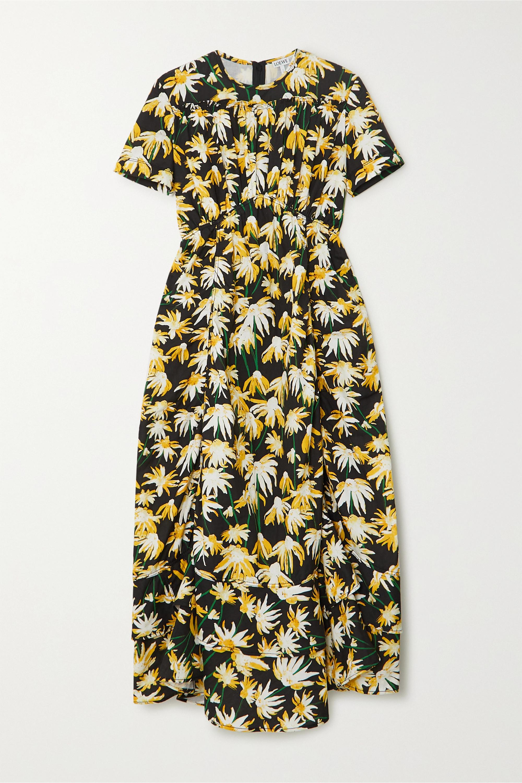 Loewe Floral-print cotton midi dress