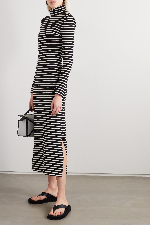 Loewe Striped cotton-jersey turtleneck midi dress