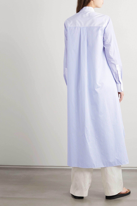 Loewe Paneled striped cotton-poplin shirt