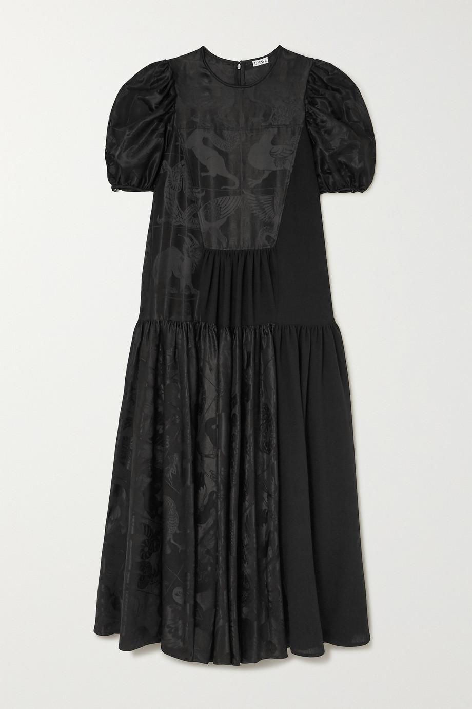 Loewe Satin-jacquard midi dress