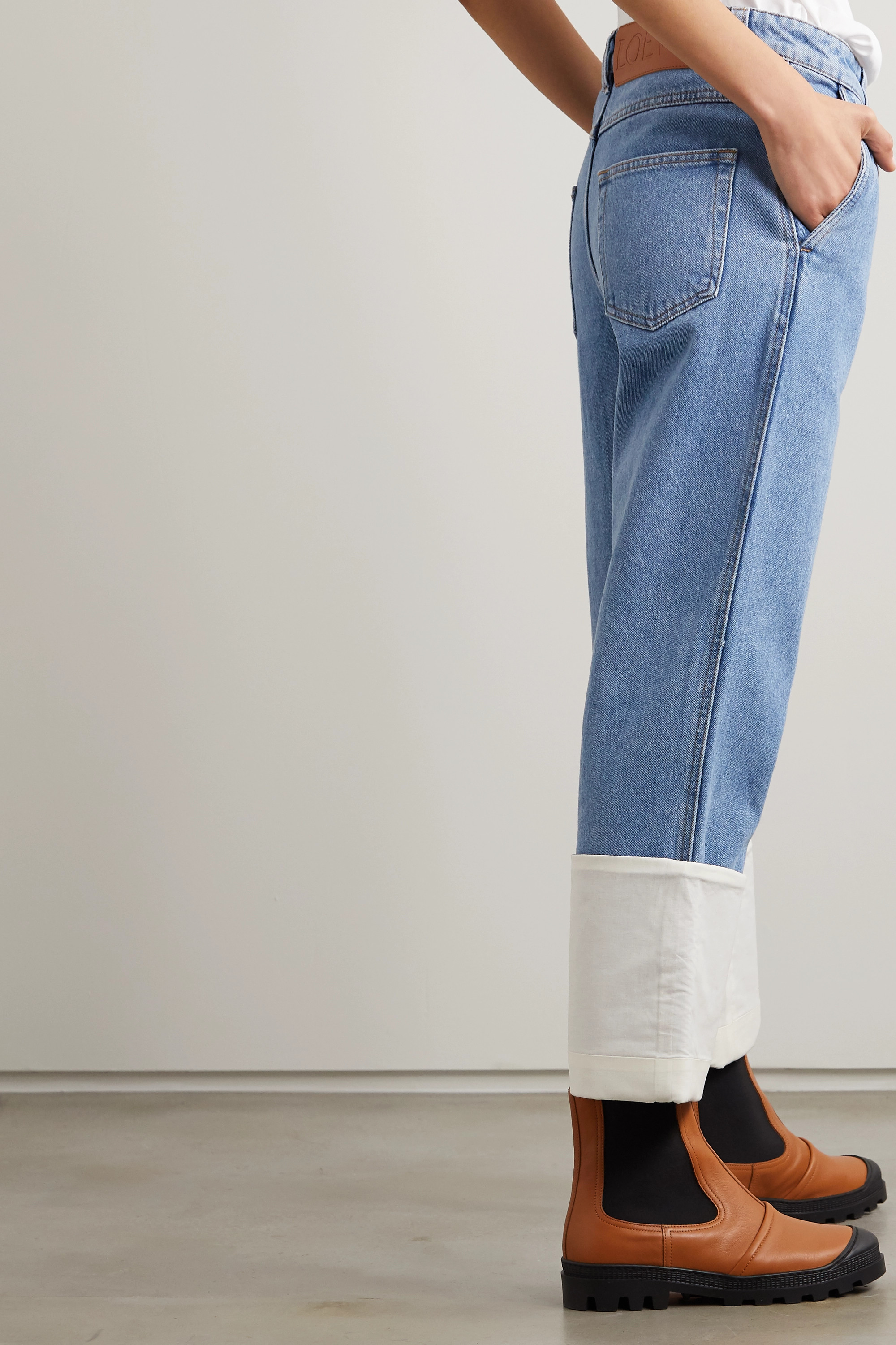 Loewe Fisherman high-rise straight-leg jeans