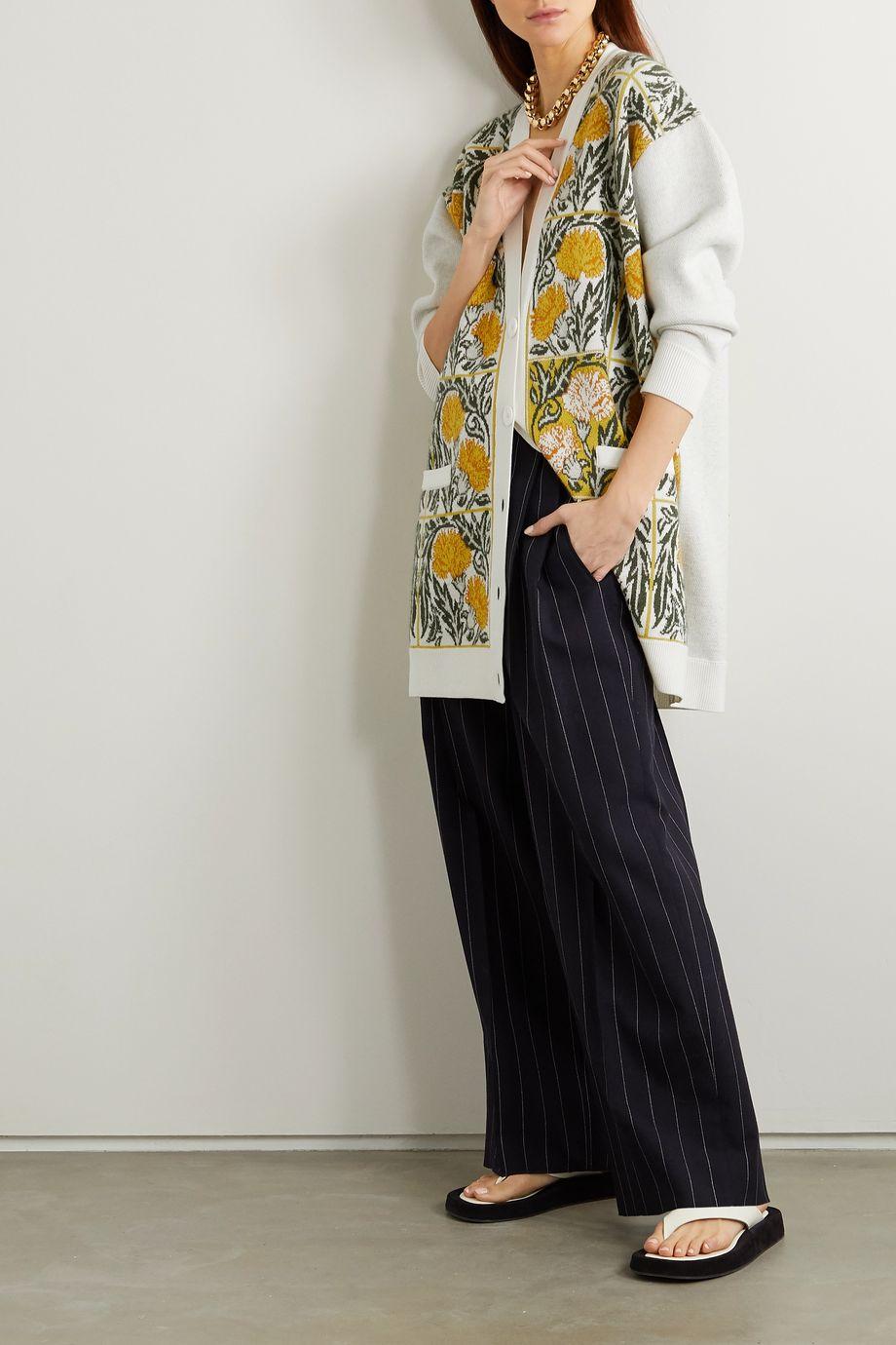 Loewe Oversized intarsia wool-blend cardigan