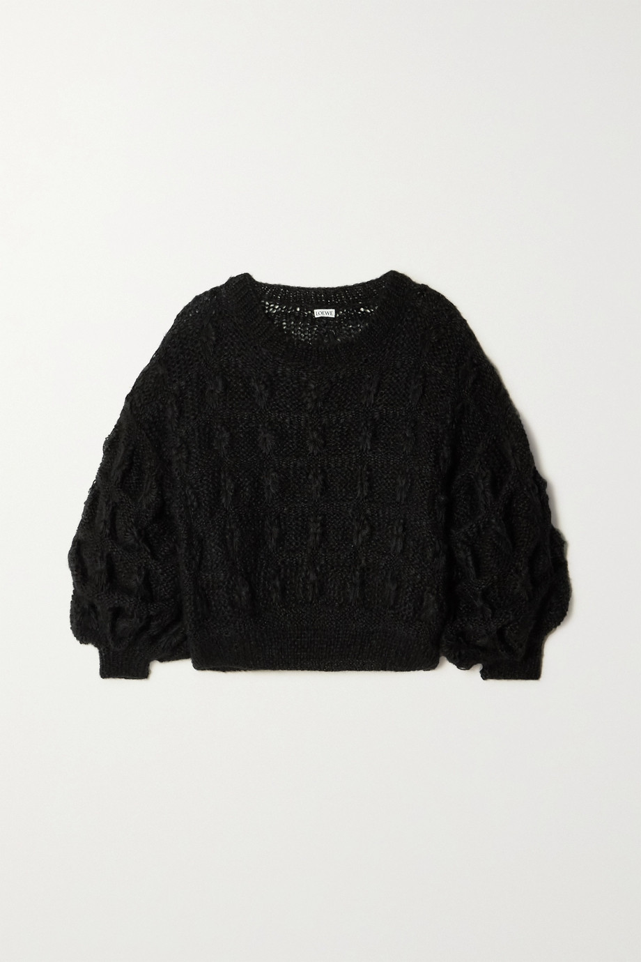 Loewe Cable-knit mohair-blend sweater