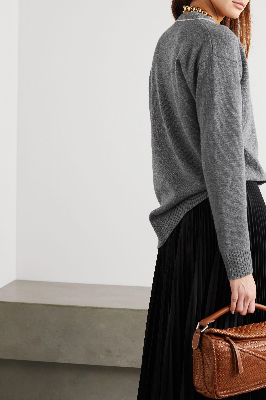 Loewe Embroidered wool cardigan