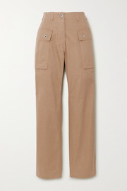 Herringbone cotton cargo pants
