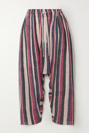 Loewe Striped cropped cotton pants