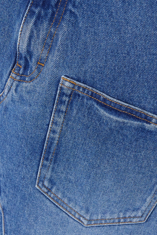 Loewe Asymmetric frayed denim skirt