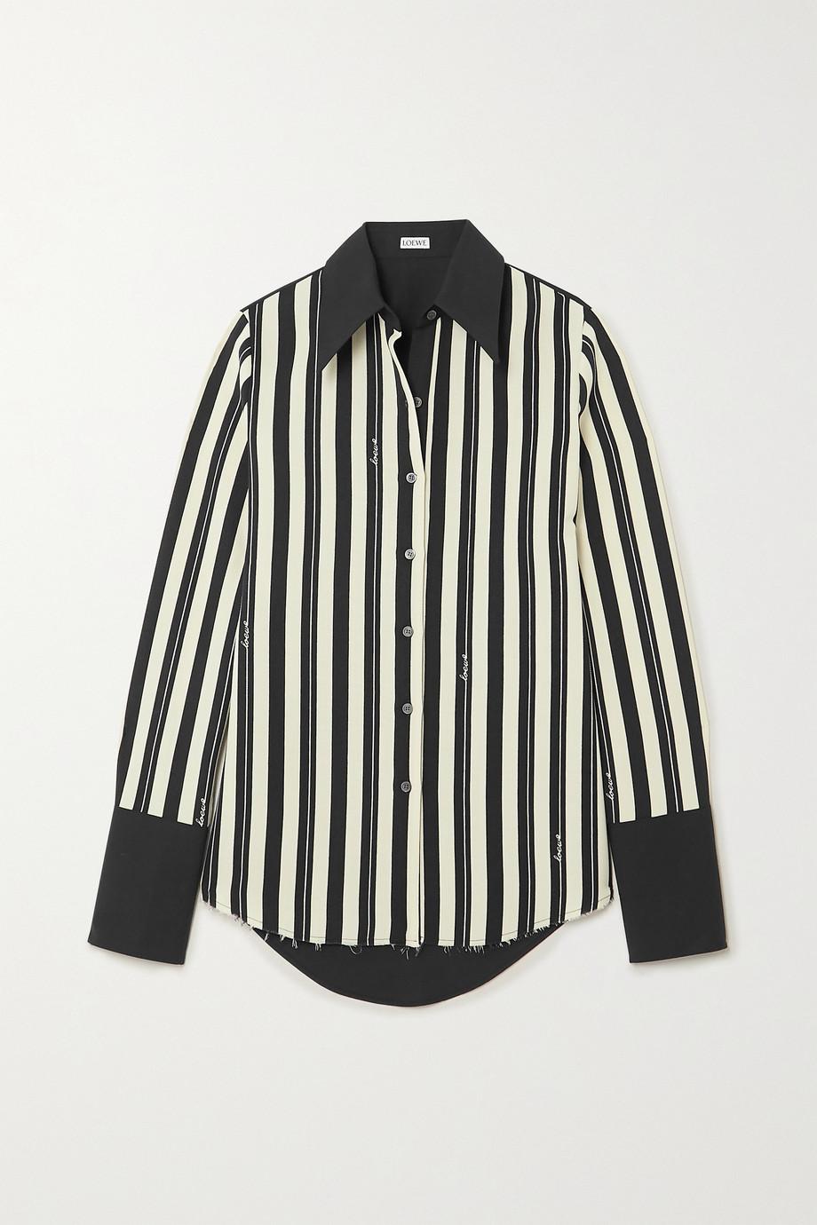 Loewe Striped wool-twill and cotton-poplin shirt