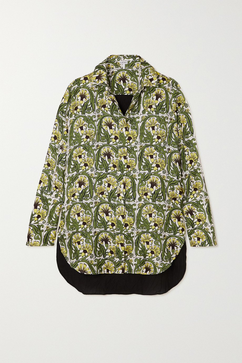 Loewe Printed silk-twill and crepe shirt
