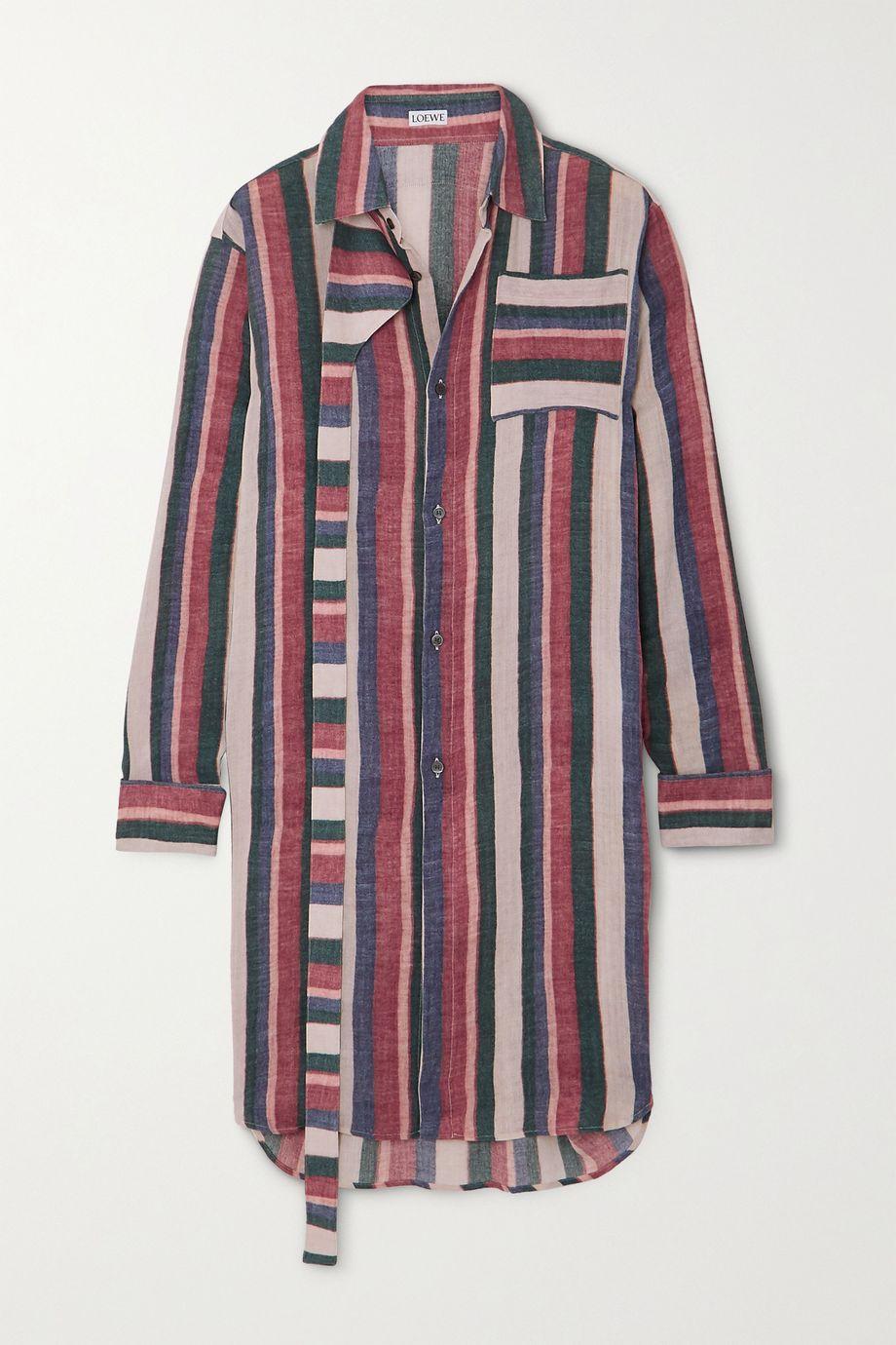 Loewe Oversized striped cotton shirt
