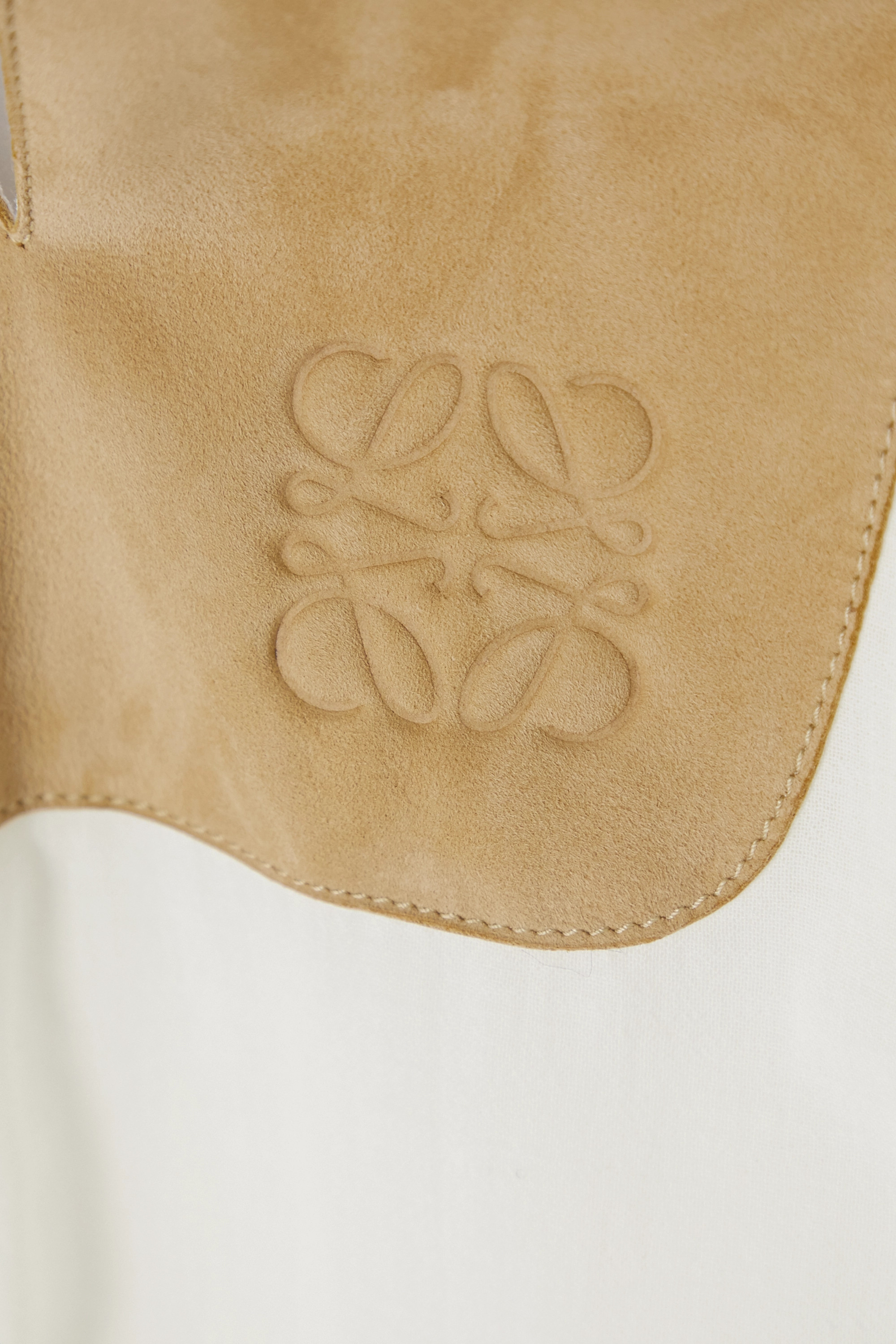 Loewe Suede-trimmed cotton-gauze tunic