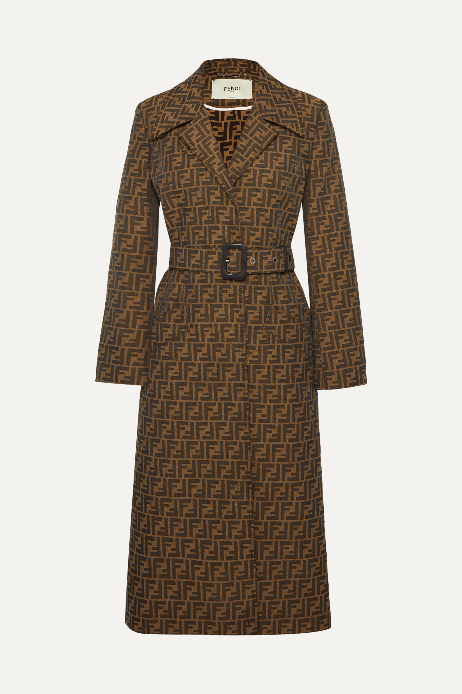 Fendi Belted jacquard coat