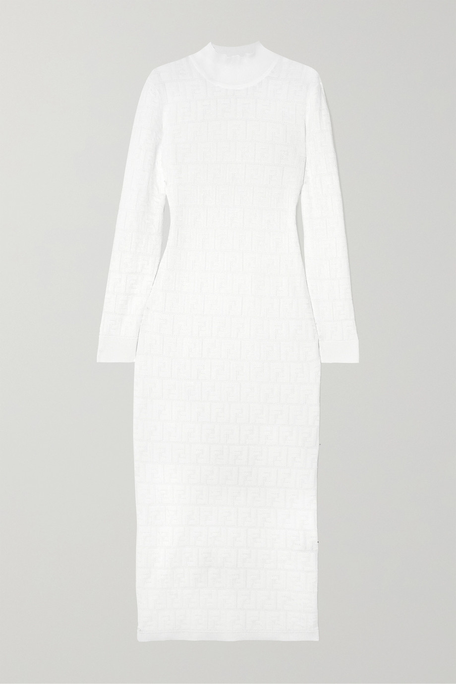 Fendi Cotton-blend jacquard-knit  midi dress