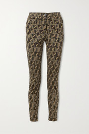 Fendi Stretch-jacquard skinny pants