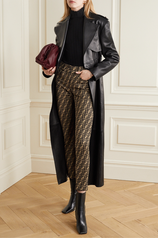 Fendi Stretch-jacquard skinny pants